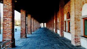 光和阴影在画廊 库存照片
