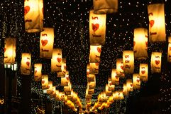 光和颜色在晚上 免版税图库摄影