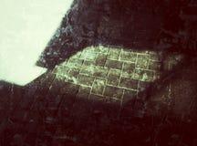 光和阴影在挡水板 免版税库存照片