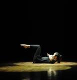 光和黑暗should've sald,我爱你现代舞蹈 免版税库存照片