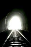 光在末端隧道 库存照片