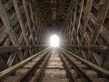 光在隧道尽头 免版税库存照片