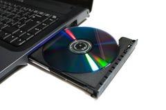光学光盘驱动器的dvd 免版税库存照片