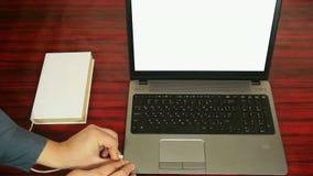 光学字符的公认概念 书膝上型计算机 影视素材