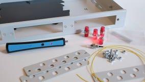 光学服务器 收集器 光学的纤维 股票录像