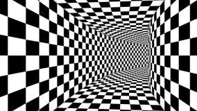光学正方形黑白幻觉 向量例证