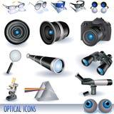 光学的图标 库存照片