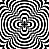 光学的幻觉 幻觉艺术 摘要扭转的黑白背景 也corel凹道例证向量 免版税库存图片