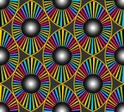 光学眼睛设计墙纸 库存图片