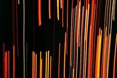 光学纤维的灯光管制线 库存照片