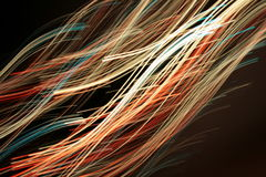 光学纤维的灯光管制线 免版税图库摄影