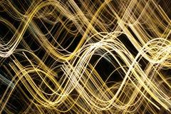 光学纤维的灯光管制线 免版税库存图片