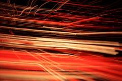 光学纤维的灯光管制线 免版税库存照片