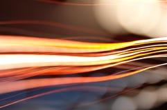 光学纤维的灯光管制线 库存图片