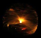 光学纤维的闪亮指示 免版税图库摄影