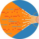 光学纤维缆绳数据流摘要象 图库摄影