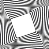 光学艺术的背景 与空的空间的错觉框架 现代几何传染媒介样式 库存照片
