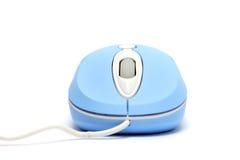 光学蓝色的鼠标 图库摄影