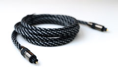 光学音频电缆 免版税图库摄影