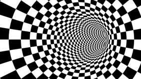光学黑白隧道幻觉 库存例证