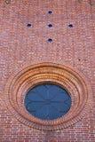 光学sumirago瓦雷泽圆花窗教会意大利大阳台响铃 免版税库存图片