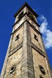 光学sumirago瓦雷泽圆花窗教会意大利 免版税库存照片