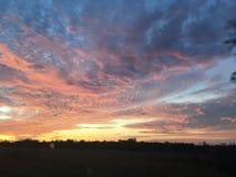 光彩的密西西比天空 免版税库存照片