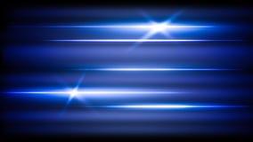 光抽象霓虹横幅发光 库存照片