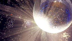 光明亮的补丁在迪斯科球的 设色 图库摄影