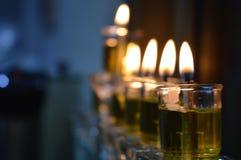 光明节蜡烛 免版税图库摄影