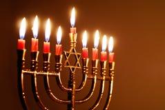 光明节蜡烛 库存图片