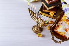 光明节,犹太灯节 免版税库存图片