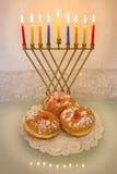 光明节menorah和多福饼