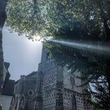 光束修道院教会庭院警卫室 免版税库存图片