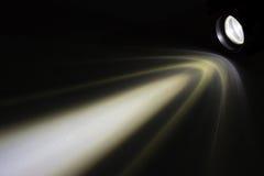 光束在晚上 免版税库存照片
