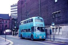 光束F4A公共汽车在沃尔索尔, 1970年 免版税库存图片