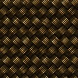 光栅无缝的金黄篮子斜纹组织样式 库存图片