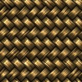 光栅无缝的金黄BasketTwill织法样式 库存照片
