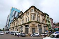 仰光殖民地大厦,缅甸 免版税库存照片