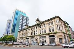 仰光殖民地大厦,缅甸 库存照片