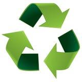 光滑回收符号 免版税库存图片