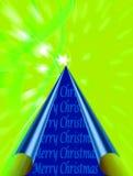 光滑的圣诞树 库存图片