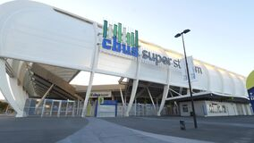 光滑的外部CBUS超级体育场 股票视频