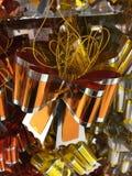 光滑的橙色丝带 图库摄影