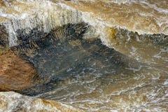 光滑的流动的水 库存照片