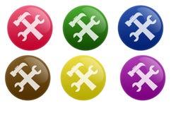 光滑的配置按钮 免版税图库摄影