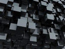 光滑背景黑色的多维数据集 免版税库存图片