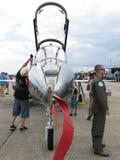 光滑F 20虎鲨喷气式歼击机 库存照片