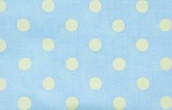 光点图形蓝色织品纹理 免版税图库摄影