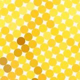 光点图形黄色 库存例证